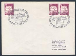 Deutschland Germany 1977 Brief Cover - Erste Museums-Eisenbahn Deutschland, Bruchhausen-Vilsen / Railway - Treinen