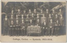 Eeklo Originele Fotokaart. College Eecloo - Syntaxis 1915 - 1916. - Eeklo