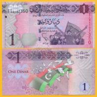 Libya 1 Dinar P-76 2013 UNC - Libië