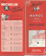 Carte Michelin N° 171 : MAROC Sud - 1/1000 000ème - 1955. - Mapas Geográficas
