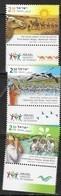 ISRAEL, 2019, MNH, TOURISM, BIRDS, CAMELS, JORDAN RIVER, 3v+TABS - Birds