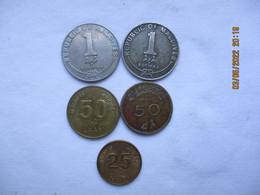 Maldives: 50 Laari 1960 & 25 Laari 1990 - Maldives