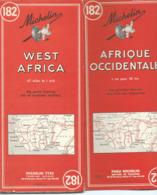 Carte Michelin N° 182 : AFRIQUE Occidentale - 1 / 3000 000ème - 1954. - Mapas Geográficas