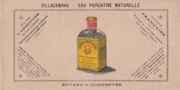 BUVARD VILLACABRAS , EAU PURGATIVE NATURELLE , PURGE A PETITES DOSES / 6000 - Buvards, Protège-cahiers Illustrés