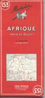 Carte Michelin N° 153 : AFRIQUE Nord Et Ouest - 1 / 4000 000ème - 1965. - Mapas Geográficas