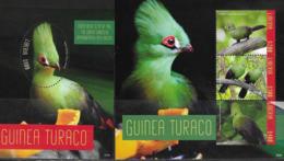 LIBERIA, 2019, MNH,BIRDS, GUINEA TURACO,  SHEETLET +S/SHEET - Birds