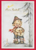 CARTOLINA VG ITALIA - BUON NATALE - Bambino Con Zampogna - MARIAPIA - Ediz. PMCE - 10 X 15 - 1949 S. PIETRO AL NATISONE - Christmas