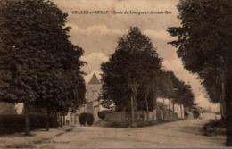 CELLES SUR BELLE ROUTE DE LIMOGES ET GRANDE RUE - Celles-sur-Belle