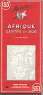 Carte Michelin N° 155 : AFRIQUE Centre Et Sud - 1 / 4000 000ème - 1961 - Mapas Geográficas