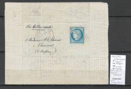 France  BALLON MONTE - Départ 14/01/1871 - LE VAUCANSON - Pour VANNES - - 1870 Siège De Paris