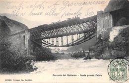 Suisse - N°60830 - Ferrovia Del Gottardo - Ponte Presso Faido - Train - TI Tessin