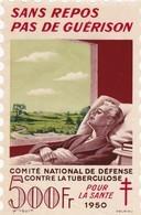 """Tuberculose Antituberculeux - Grand Timbre De 1950 """"500 Fr Pour La Santé"""" - Avec Sa Pochette - Erinnophilie"""