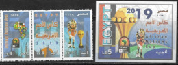 EGYPT, 2019, MNH, FOOTBALL, SOCCER,  AFRICAN NATIONS CUP, 3v+S/SHEET - Africa Cup Of Nations