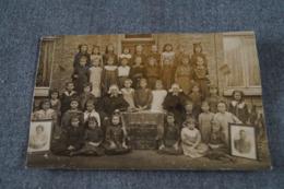 Photo Carte Postale Originale,Pont-de-Loup,1919,photo De Classe,école Communale De Filles - Belgique