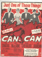 Partition Musicale Ancienne  , FRANK SINATRA ,MAURICE CHEVALIER , CAN-CAN , Frais Fr 1.85e - Partitions Musicales Anciennes