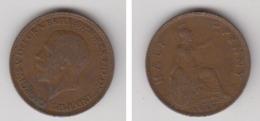 GRANDE-BRETAGNE - HALF PENNY 1929 - 1902-1971 : Monnaies Post-Victoriennes