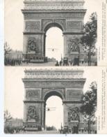CPA 1150 -  2 Cartes Sur L'exploit De L'aviateur Godefroy - Passage Sous L'Arc De Triomphe - Events