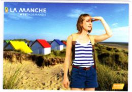 CP 50 Manche, Gouville, Cabanes, Dune, Plage, West Normandie - France