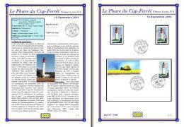 Planche Album Expo : France 2004 : 3709  Phare Du Cap-Ferrét France à Voir N°4 - Albums & Reliures