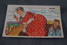 Très Belle Ancienne Carte A Système,Givet 1952 - Givet