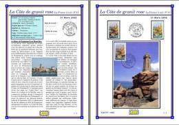 """Planche Album Expo : France 2008 : 4163  """" Côte De Granite Rose. Phare De Ploumanac'h """" - Albums & Reliures"""
