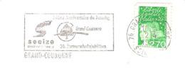 CACHET OBLITERATION FLAMME GRAND-COURONNE 30° ANNIVERSAIRE JUMELAGE SEEIZE  ENVELOPPE 16X11 - Marcophilie (Lettres)