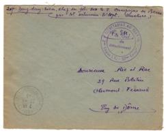 """1943 - LSC Cachet """"Secretariat Au Travail - 3° Légion I.C. - 37° Compagnie"""" Par Le Chef Des TM Dang Dang Tien - Marcophilie (Lettres)"""