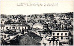 SALONIQUE - Vue Générale Après L'incendie Coté Nord - Greece