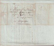 "FRANCE : MARQUE POSTALE . "" 16 SAINTES "" . TAXEE . 1810 . - 1801-1848: Vorläufer XIX"