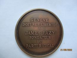Suisse: Genève Doit Ses Libertés à James Fazy Fondateur Du Parti Radical 1976 - Royaux / De Noblesse