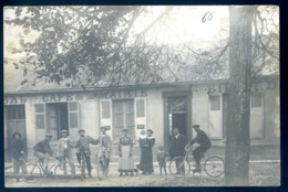 Cpa Carte Photo à Identifier Café De La Mairie Billard Bal V. Simonel Ou Simonet    LZ114 - Postcards