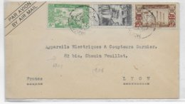 1950 - SYRIE - ENVELOPPE Par AVION De ALEP (FISCAL AU DOS) => PARIS - Syrie