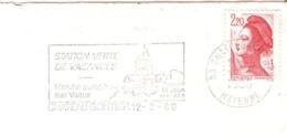 CACHET OBLITERATION FLAMME CHATEAU GONTIER PRIEURE ST JEAN MARCHE AUX VEAUX ENVELOPPE 16X11 - Marcophilie (Lettres)