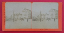 Clichés Stéréoscopiques Albuminés Sur Carton - Suisse - Lucerne - En Ville - Stereoscopic