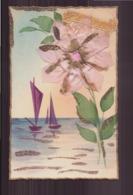 CARTE AVEC COLLAGE FLEUR - Cartoline