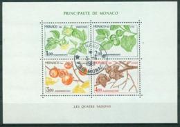BM Monaco 1981 MiNr Block 18 (1502-1505) Used | Seasons Of The Persimmon Tree - Monaco