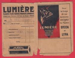 248551 / Advertising - Ancienne Pochette De Photographie LUMIERE PLAQUES FILMS PAPIERS PRODUITS APPAREILS PARIS FRANCE - Supplies And Equipment