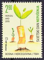 Bosnia Croatia 2019 World NO SMOKING Day Health Medicine Plants MNH - Bosnien-Herzegowina