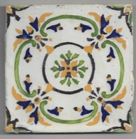 Carreau De Faience  -    Fourmaintraux Courquin à  Desvres   -  1863/1896   -  11.2 X 11.2 Cm - Non Classés