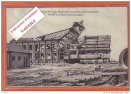 Carte Postale 62. Courrières  Les Ruines De La Mine  Fosse  N° 6  Trés  Beau Plan - France