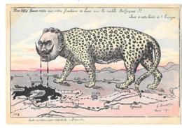 GUERRE 1914-18 Carte Illustrée Caricature Anti Guillaume BELGIQUE PANTHERE - Patriotiques