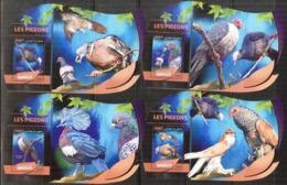 D{088} DJIBOUTI 2016 BIRDS PIGEONS SET OF 4 S/S DELUXE MNH** - Djibouti (1977-...)