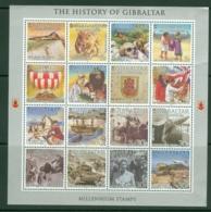 Gibraltar: 2000   New Millenium - History Of Gibraltar   MNH Sheetlet - Gibilterra