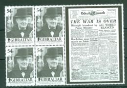 Gibraltar: 2001   Bicentenary Of Gibraltar Chronicle Newspaper   MNH Blocks Of 4 - Gibilterra