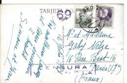 VALENCE VALENCIA Espagne Cachet De Censure Violet CENSURA VALENCIA + N° 69 Année 1937 - G - Marques De Censures Nationalistes
