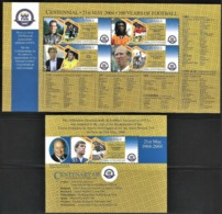 2004 Tuvalu Centenary Of FIFA Minisheet And Souvenir Sheet (** / MNH / UMM) - Fútbol