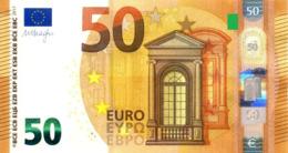 EURO SPAIN 50 VB V010 VB00 UNC DRAGHI PAREJA RADAR2 - EURO