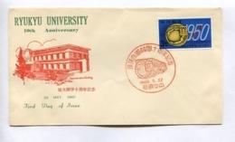 RYUKYU UNIVERSITY, 10th ANNIVERSARY - RYUKYU ISLANDS, YEAR 1960, FIRST DAY OF ISSUE FDC -LILHU - Ryukyu Islands