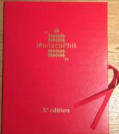 Encart MONACOPHIL 2015 Xè édition Bloc Non-dentelé Numéroté Princesse Charlène Et Prince Albert - Unused Stamps