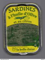 Puxisardinophilie - Boite à Sardines (vide)  à L'huile D'olive Et Au Citron - La Belle-iloise - Andere Verzamelingen